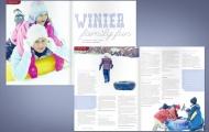 """""""Winter Family Fun"""" Magazine Spread"""